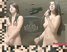 two girls stripping